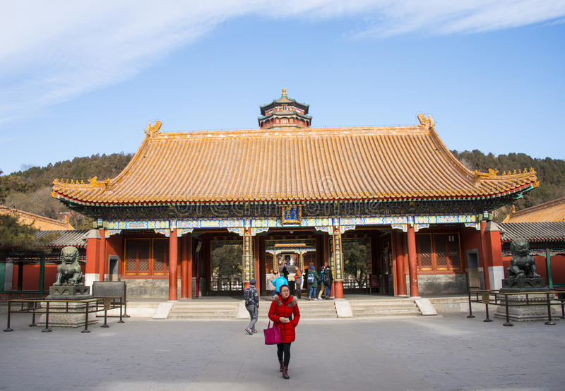 Asia China, Beijing, the Summer Palace,Classical architecture stock images