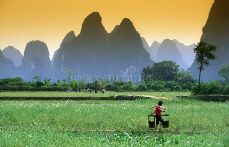 ASIA CHINA GUILIN imagen de archivo libre de regalías