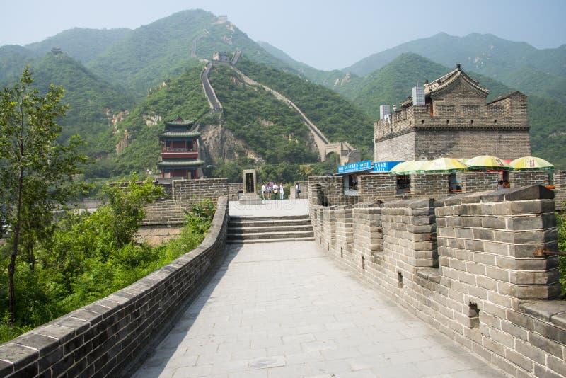 Asia China, Pekín, edificios históricos, la Gran Muralla Juyongguan, fotos de archivo libres de regalías