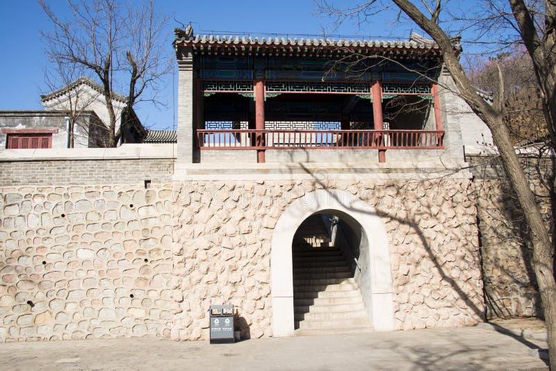 Asia China, Pekín, la Gran Muralla de Badaling, arquitectura de paisaje fotografía de archivo