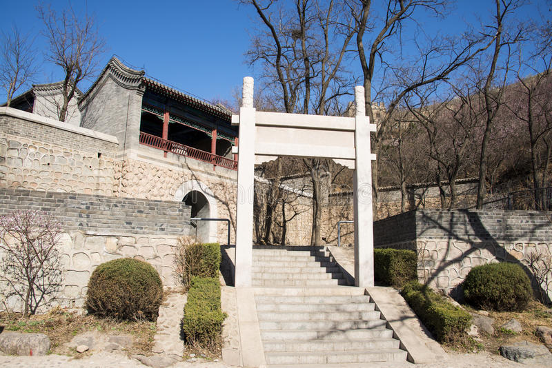 Asia China, Pekín, la Gran Muralla de Badaling, arquitectura de paisaje imagenes de archivo