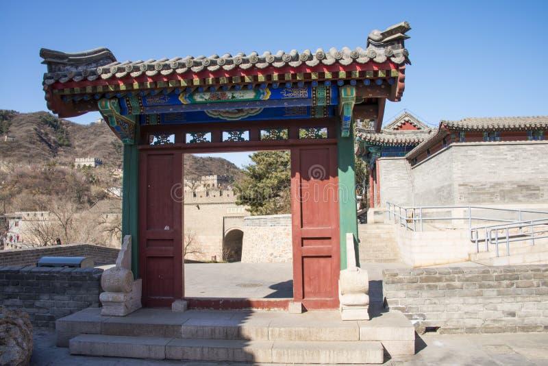 Asia China, Pekín, la Gran Muralla de Badaling, arquitectura de paisaje imágenes de archivo libres de regalías