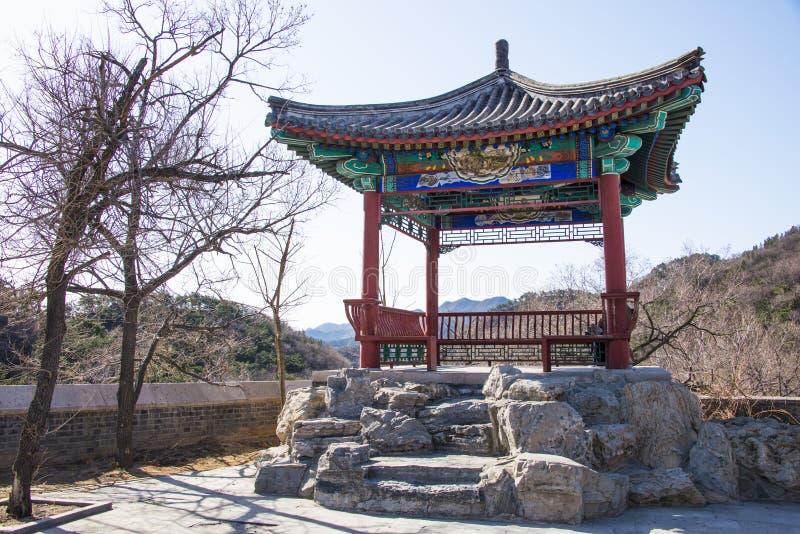 Asia China, Pekín, la Gran Muralla de Badaling, arquitectura de paisaje foto de archivo