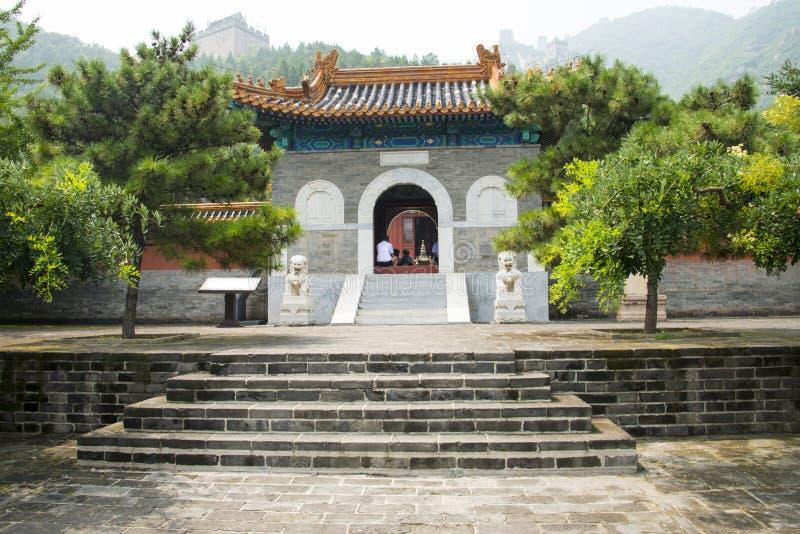 Asia China, Pekín, la Gran Muralla Juyongguan, templo del caballo fotos de archivo