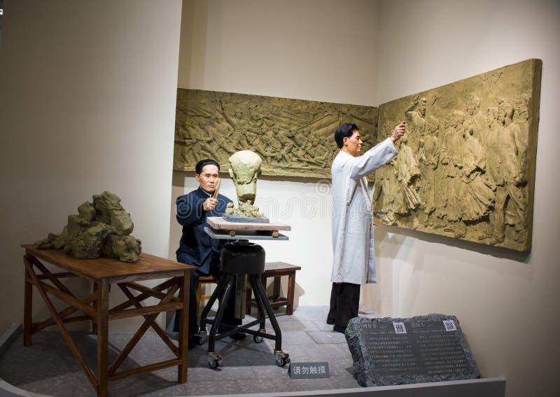 Asia Chinese, Beijing, National Museum, the modern culture of celebrity wax, Liu Kaiqu, Hua Tianyou. China and Asia, Beijing, National Museum, modern royalty free stock photos