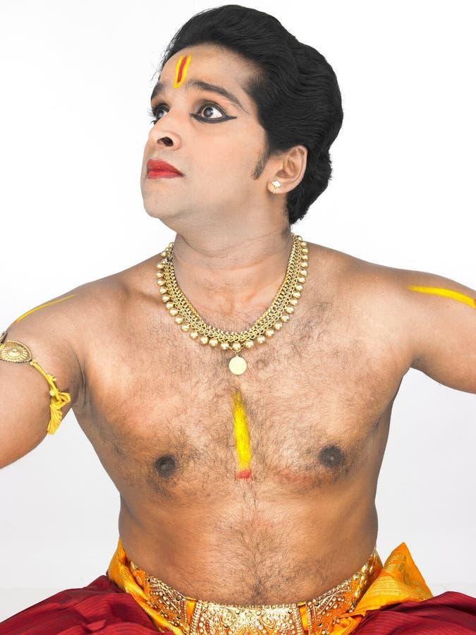 asia classical dancer male arkivbilder