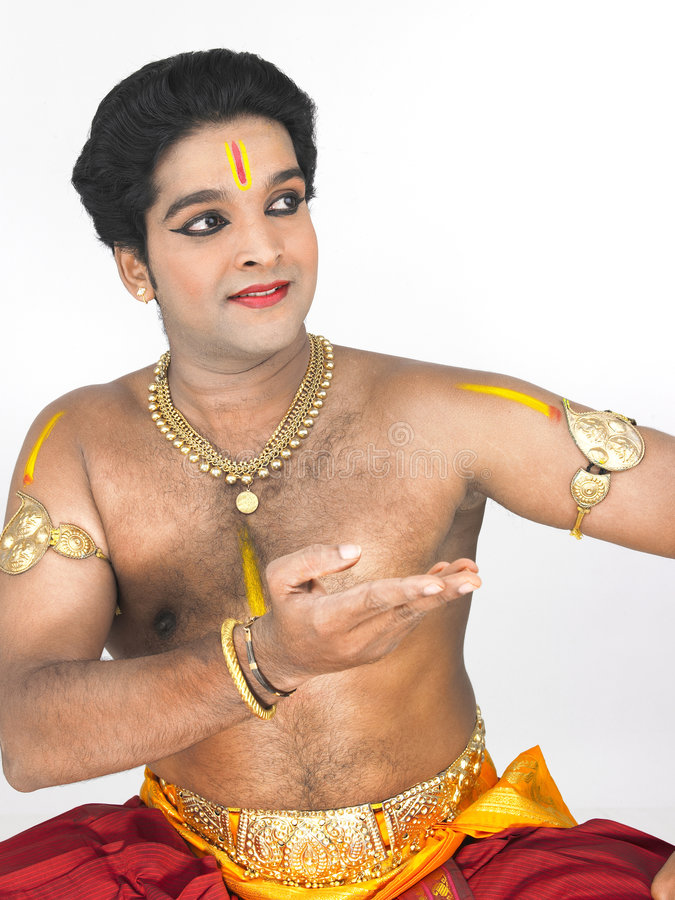 asia classical dancer male royaltyfri bild
