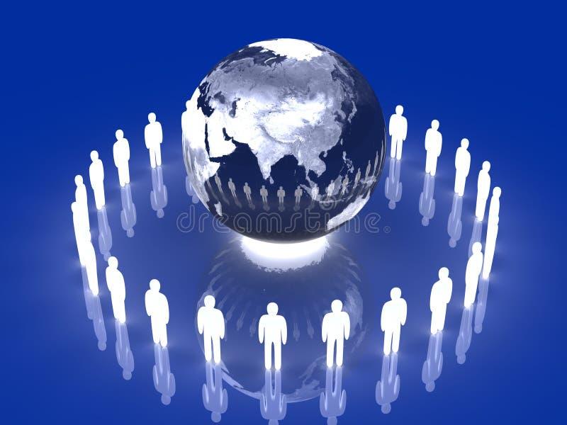 asia drużyna globalna rozjarzona ilustracja wektor