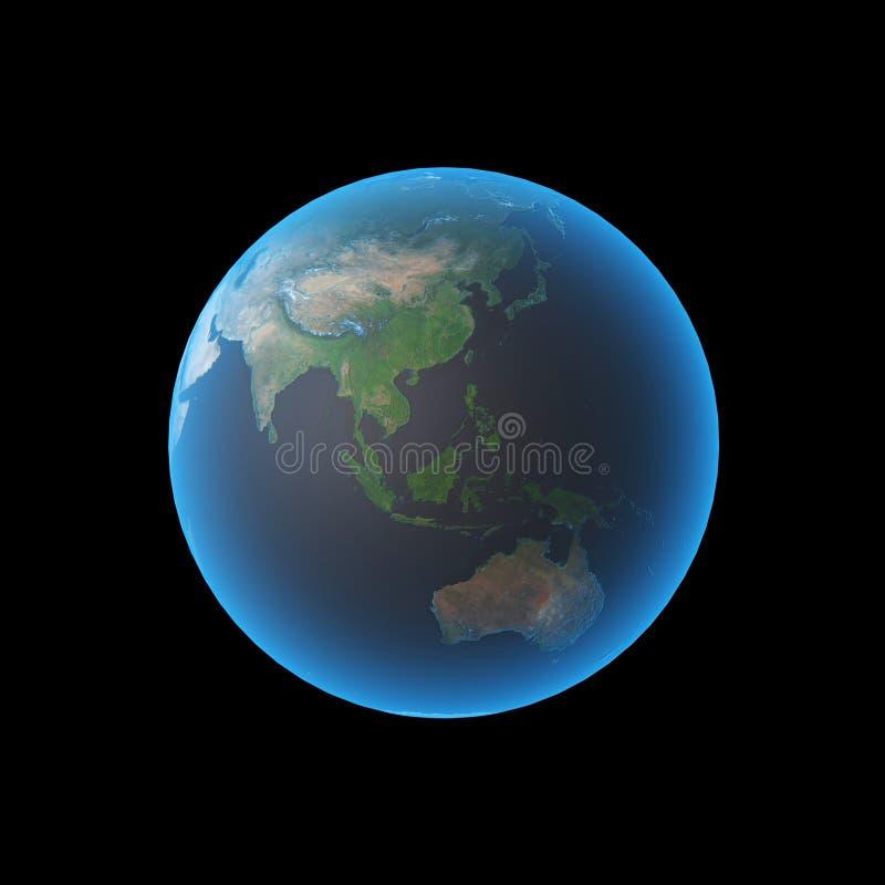 asia earth διανυσματική απεικόνιση