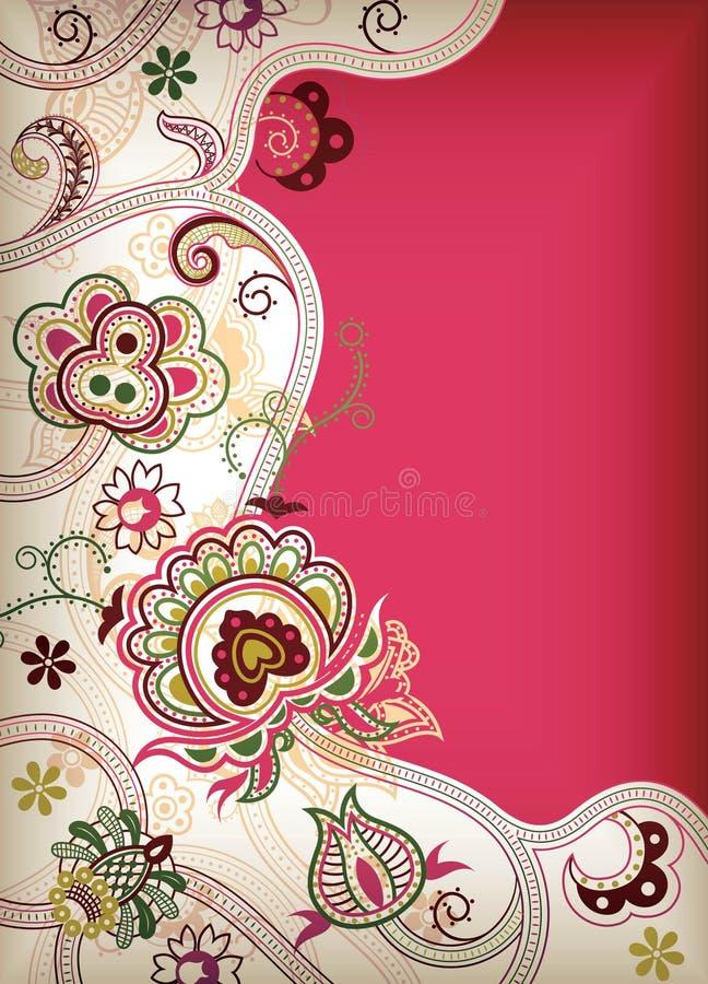 Asia floral stock de ilustración