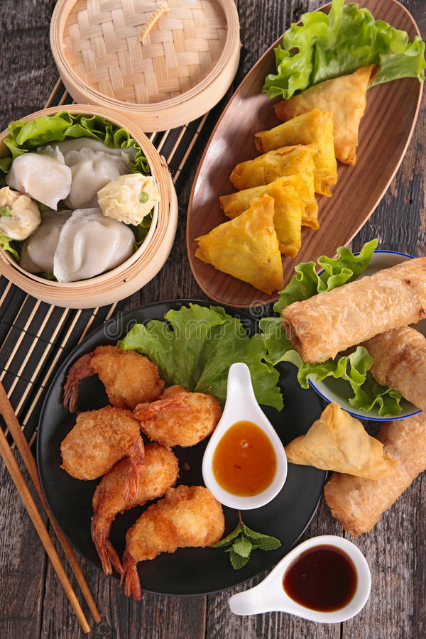 Asia food. Close up on asia food stock photography