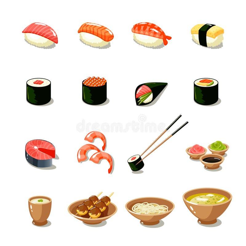 Asia Food Icon Set vector illustration