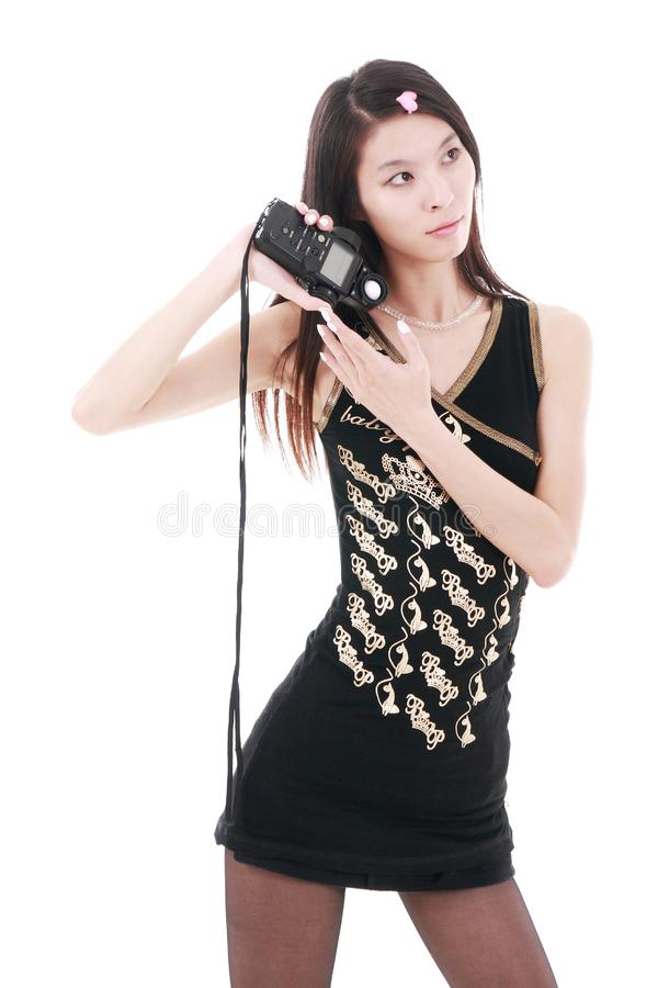 Download Asia Girl Holding Exposure Meter Stock Image - Image of life, lady: 9893955