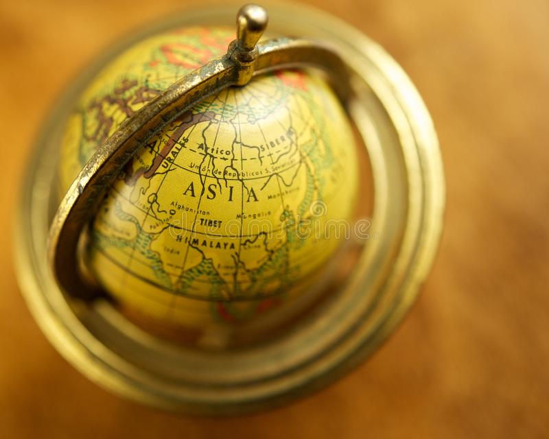 Download Asia on a globe stock photo. Image of brown, direction - 27205464