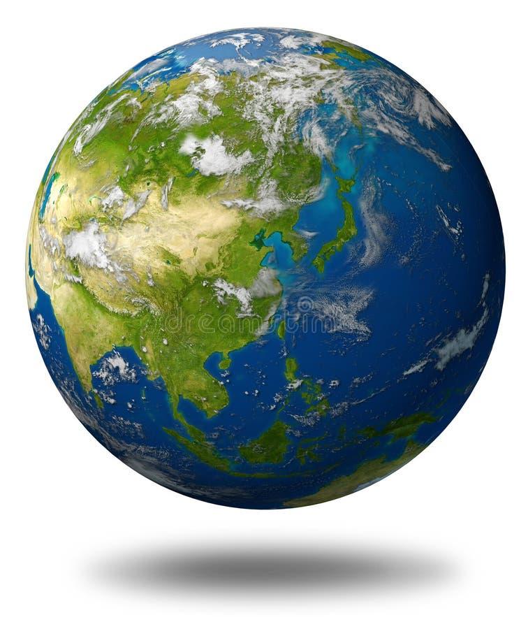 asia jordjordklot royaltyfri illustrationer