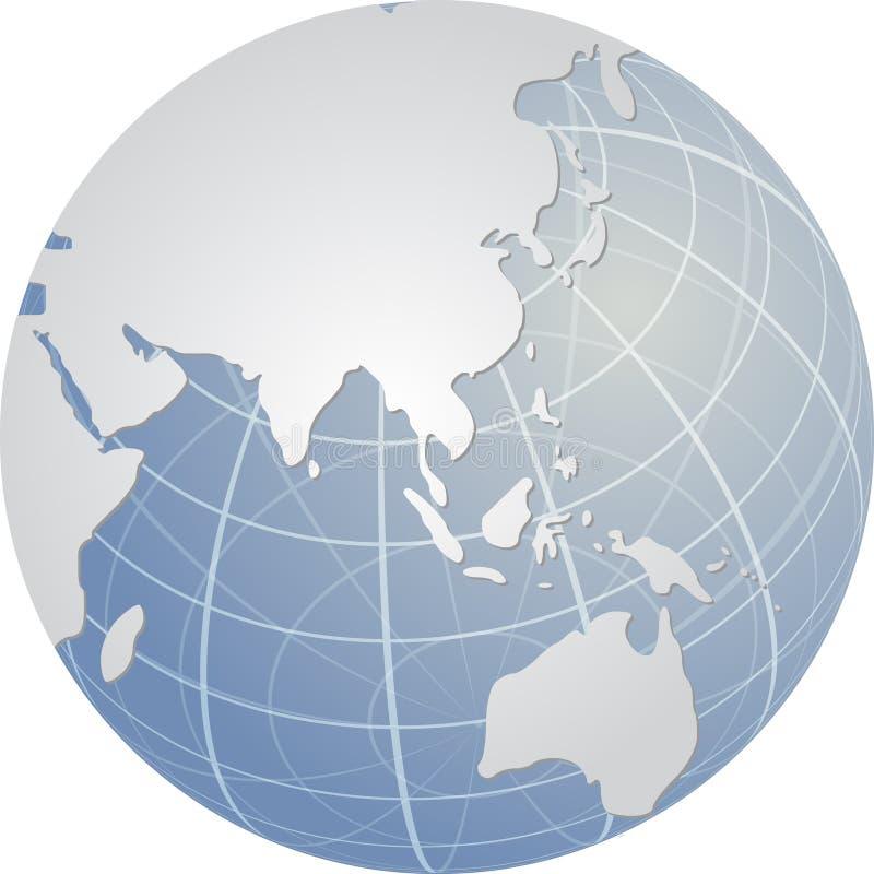 asia jordklot royaltyfri illustrationer