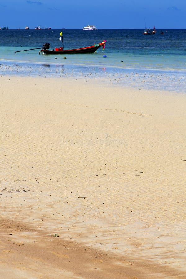 Asia in the kho tao bay isle white south china sea anchor royalty free stock image