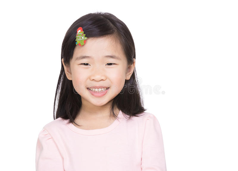 Asia little girl stock image