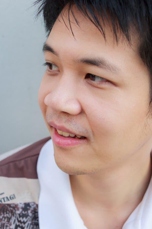 Asia man. Headshot of Asia young man royalty free stock image