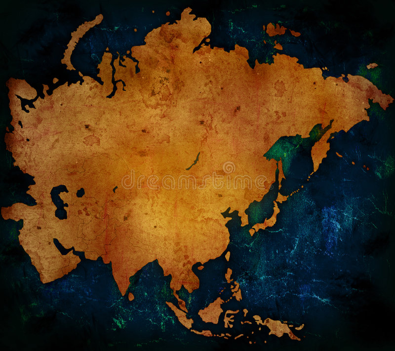 Asia map royalty free stock photos