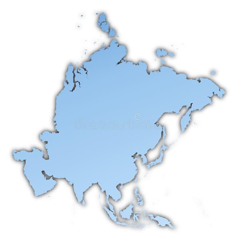 asia mapa ilustracji