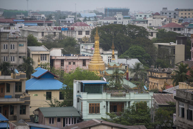 ASIA MYANMAR MANDALAY CITY CENTRE. The view of the city centre of the City of Mandalay in Myanmar in Southeastasia royalty free stock photo