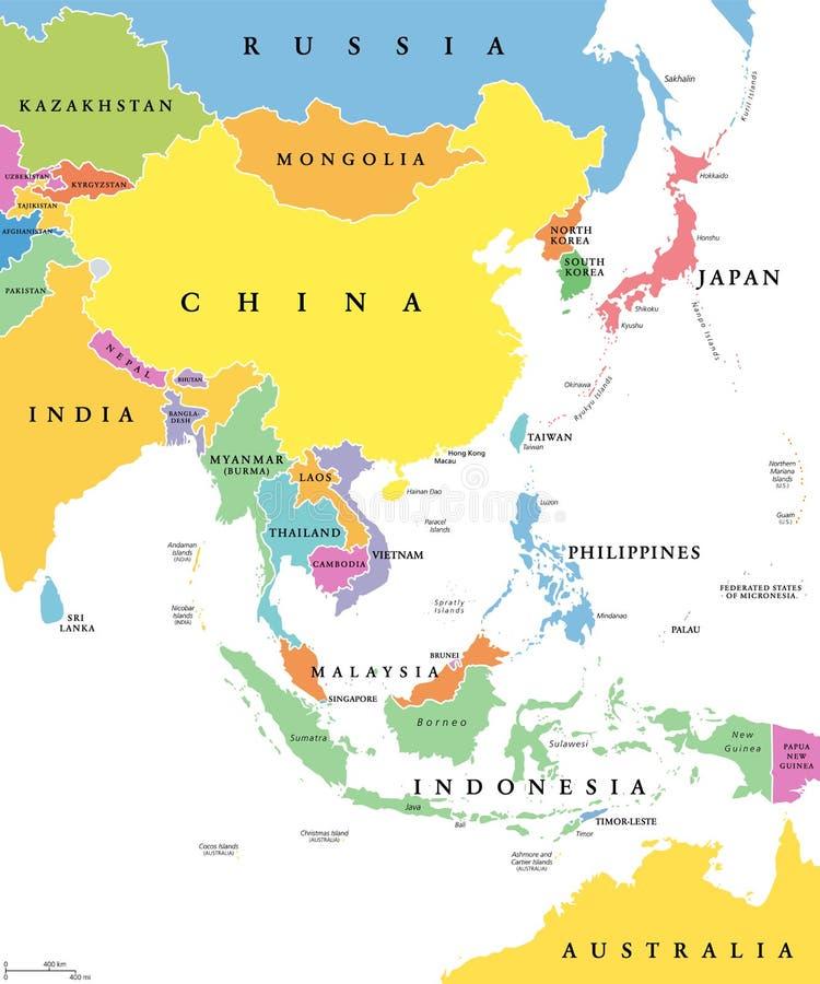 Cartina Dell Asia Orientale.Mappa Politica Di Asia Orientale Illustrazione Vettoriale Illustrazione Di China Mongolia 96921474