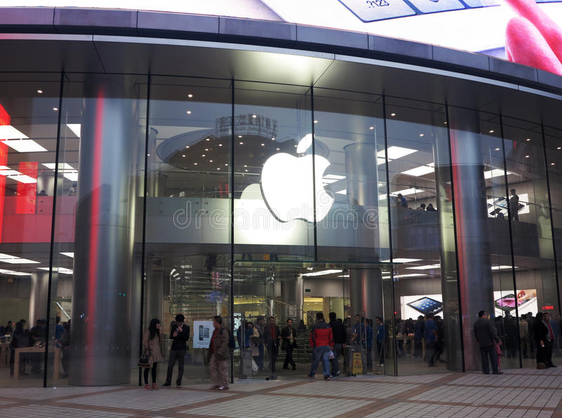 Download Asia's Largest Apple Store,Beijing Editorial Stock Image - Image: 27481884