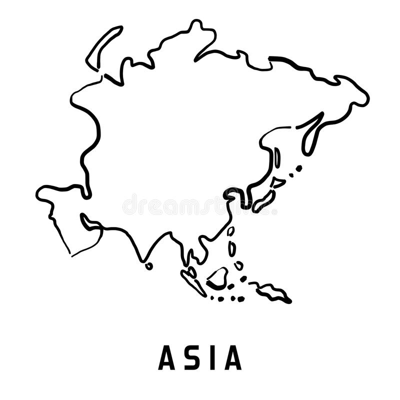 download asia simplified map stock vector illustration of symbol 87375934