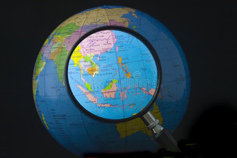 Asia Sud-Orientale nel fuoco fotografia stock