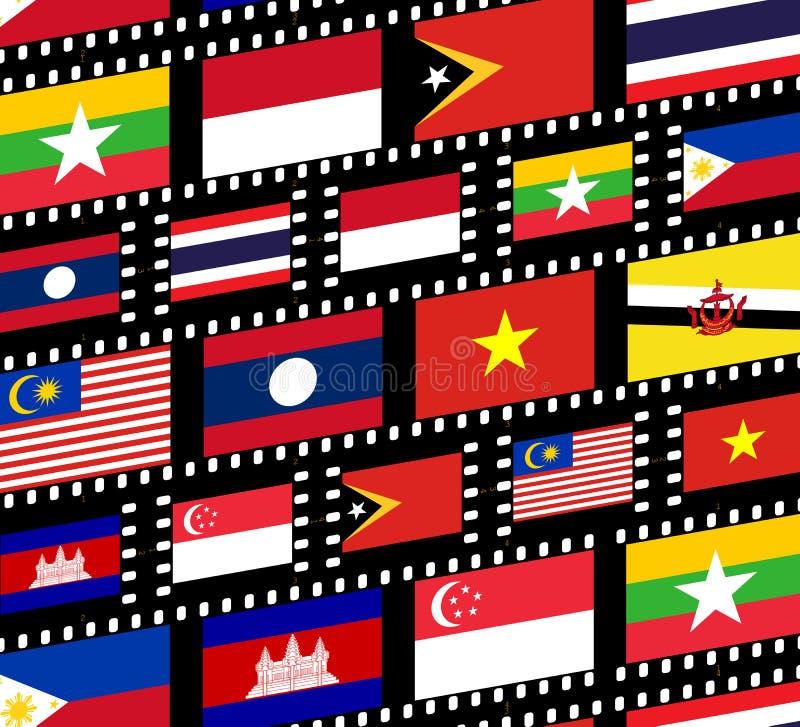 Asia Sur-Oriental ilustración del vector