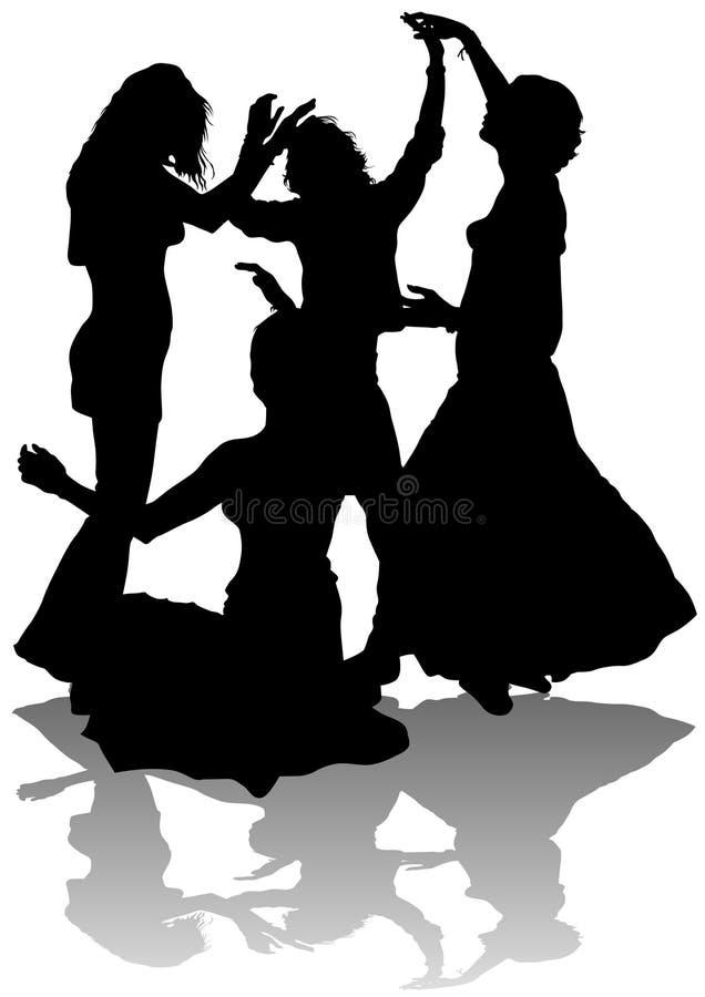 asia taniec ilustracji
