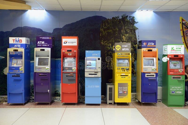 ASIA THAILAND PHUKET BANK MONEY ATM stock image