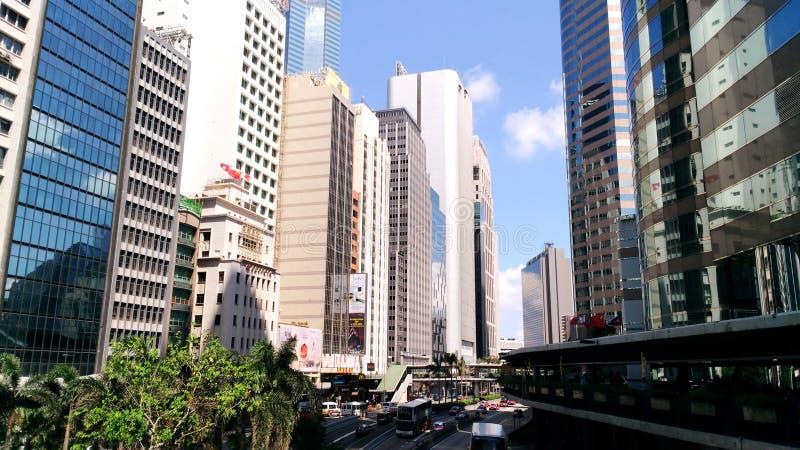 Skyscrapers art. Asia travel, Hong Kong city, urban life royalty free stock images