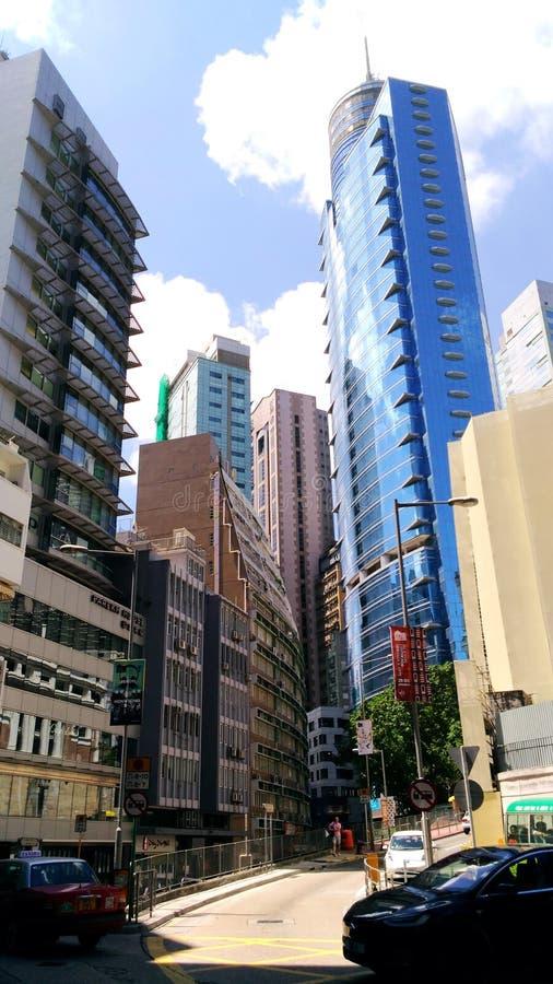 Skyscrapers art. Asia travel, Hong Kong city, urban life royalty free stock photo