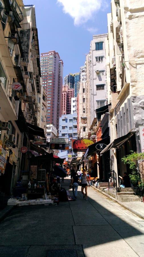 Skyscrapers art. Asia travel, Hong Kong city, urban life stock photos