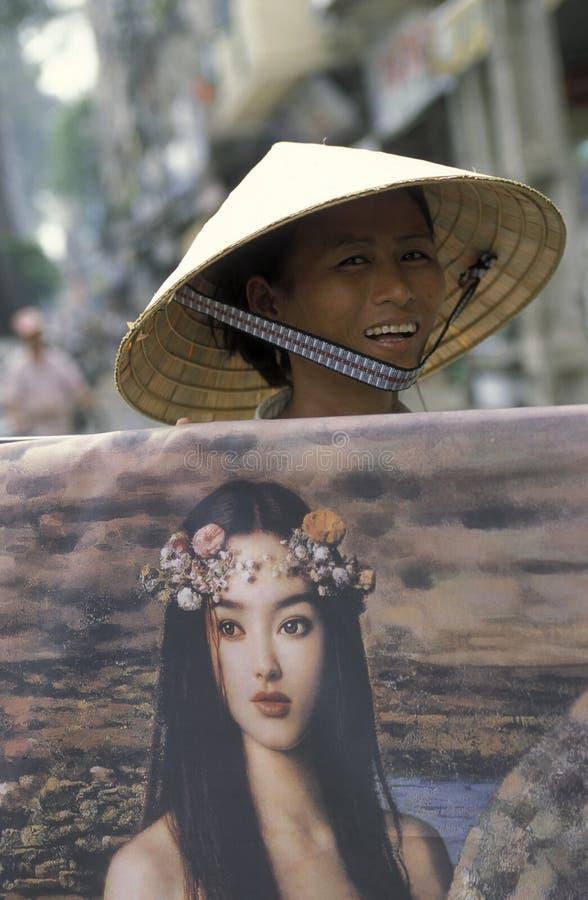 ASIA VIETNAM HO CHI MINH CITYART PAINTER royalty free stock photo
