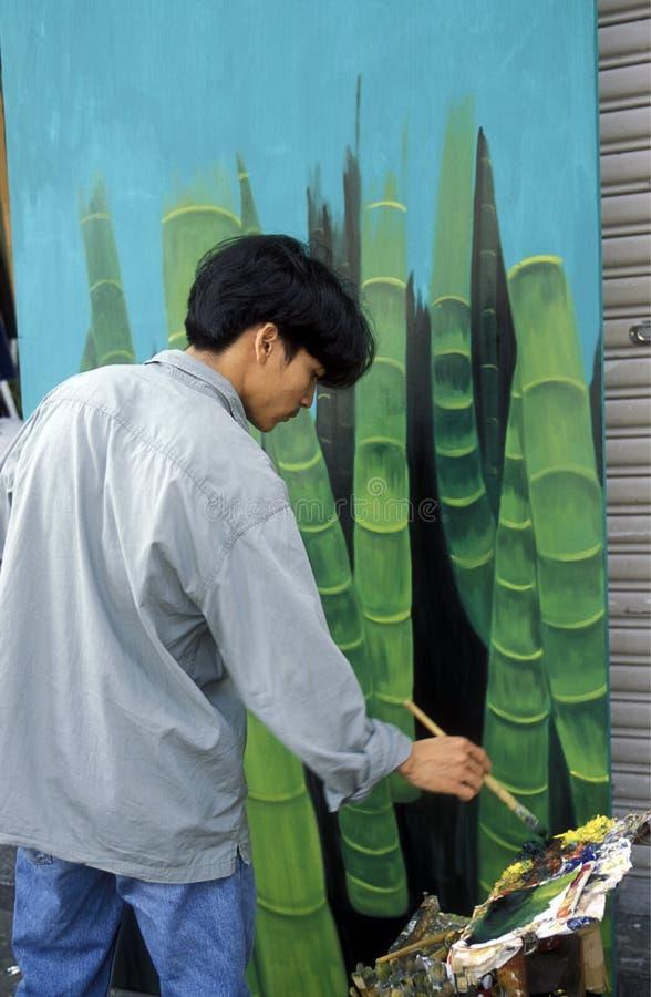 ASIA VIETNAM HO CHI MINH CITYART PAINTER stock images
