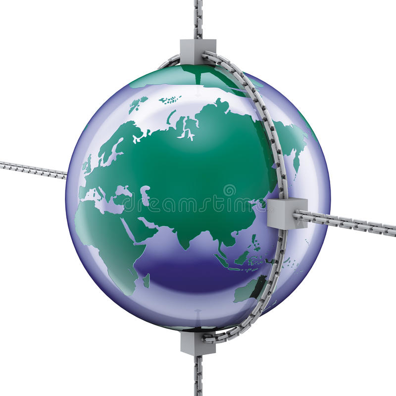 Asia World And Chains Stock Photos