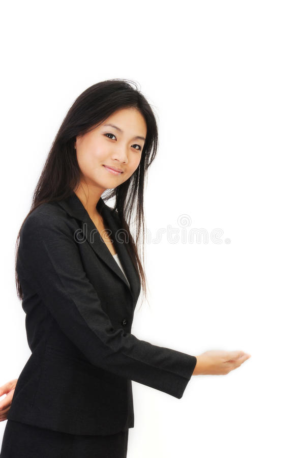 Asia young business woman royalty free stock photo