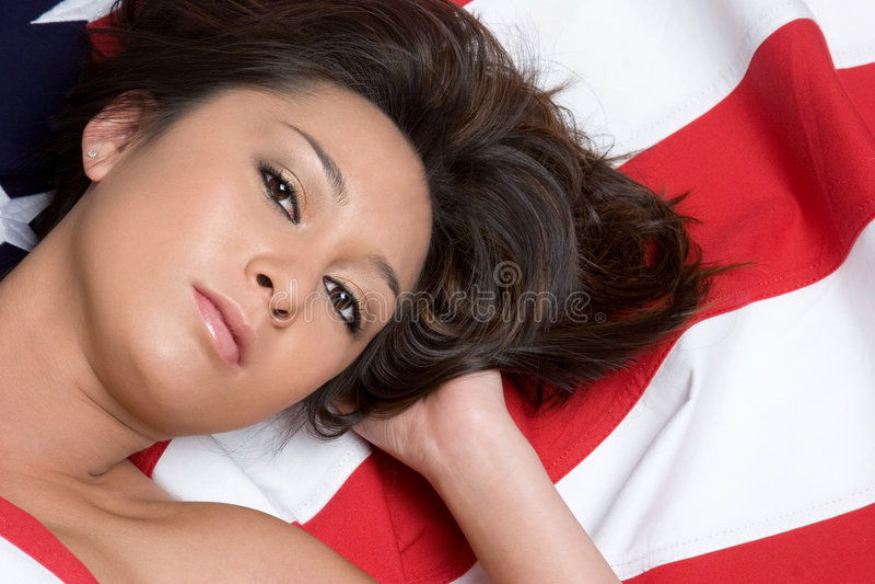 Asian American Woman stock photo