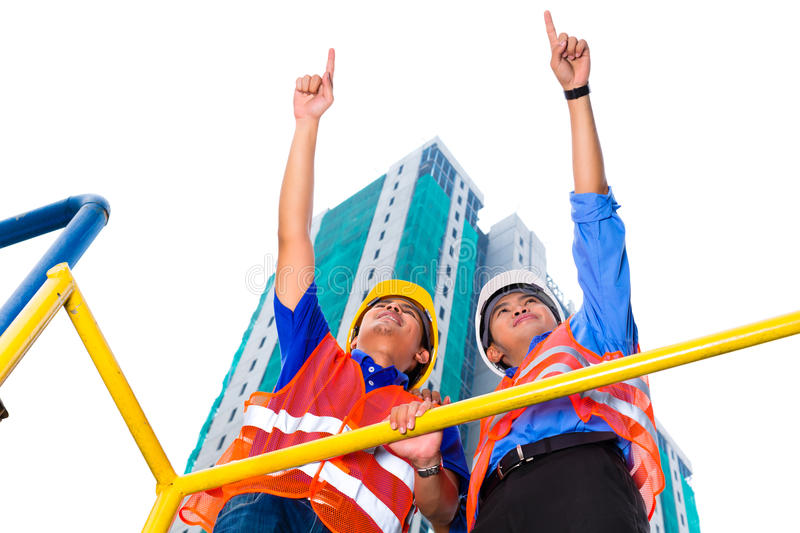 Download Asian Architect And Supervisor On Construction Site Stock Photo - Image: 32787846