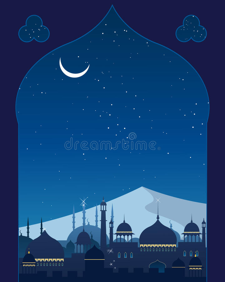 Download Asian architecture stock vector. Illustration of night - 25978735
