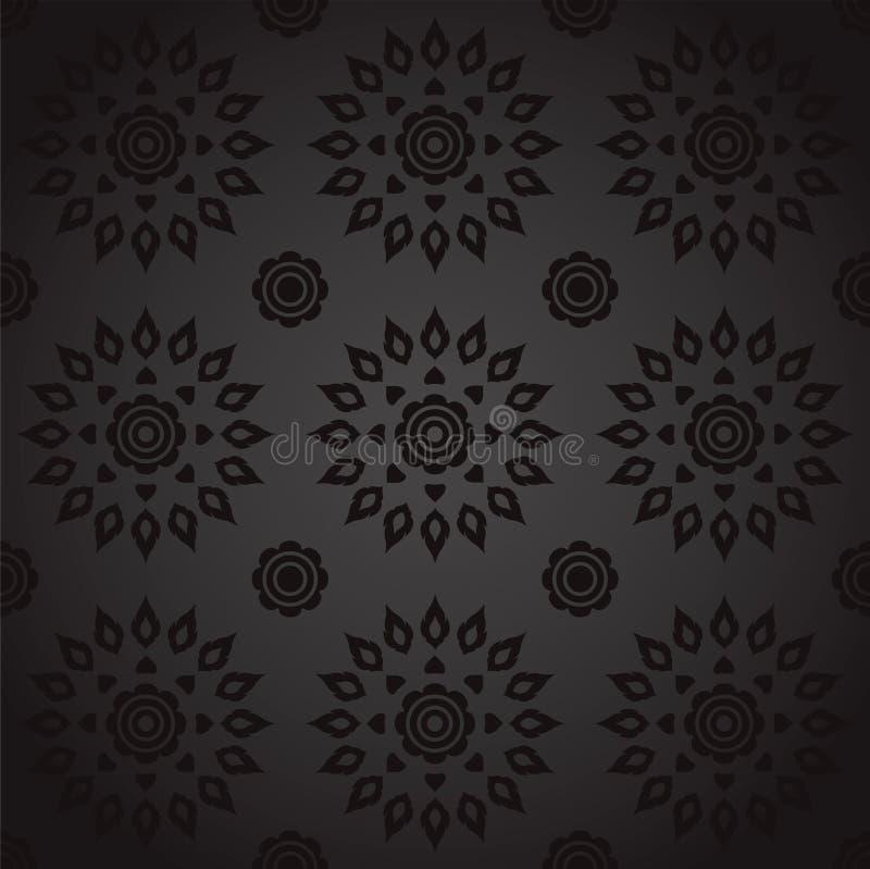 Asian Art Background, Thai art pattern vector. stock illustration