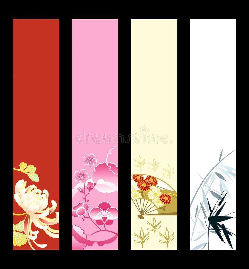 Asian art banners. Asian art banner or sider backgrounds. Base banner size is 120x600