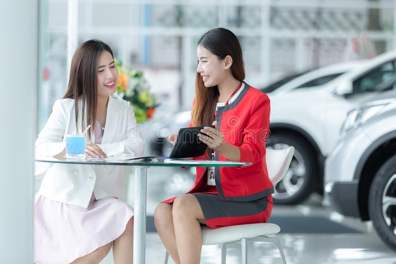 Asian auto business, car sale, technology and people concept - h stock photography