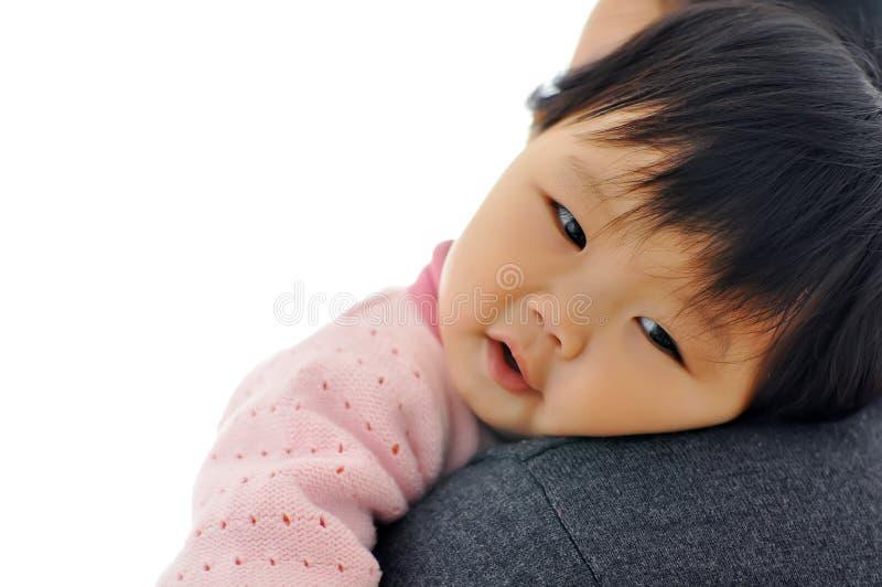 A Asian baby girl stock photo