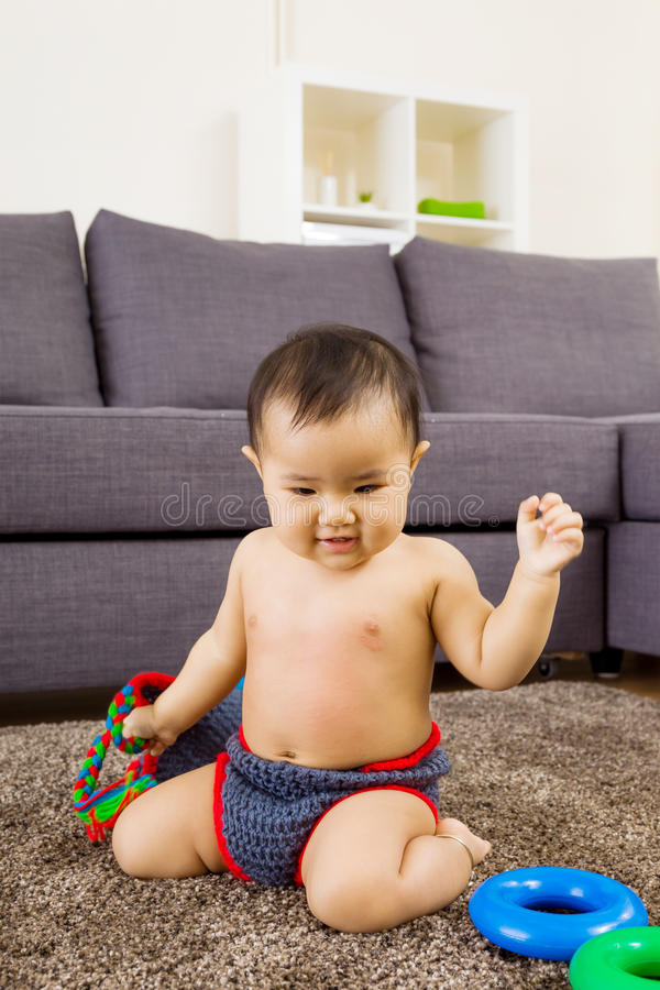 Asian baby play toy stock image