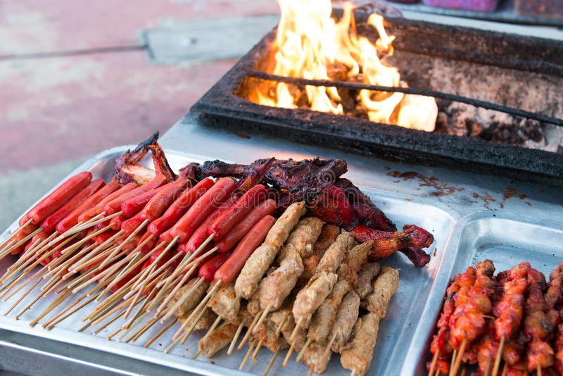 Download Asian barbecue food stock image. Image of sate, marinated - 29456389