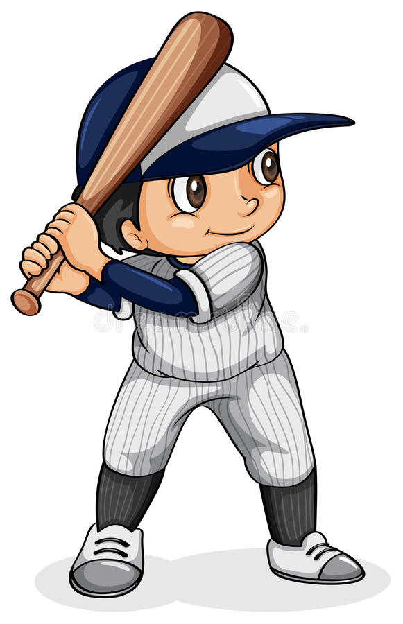 An Asian baseball player. Illustration of an Asian baseball player on a white background vector illustration